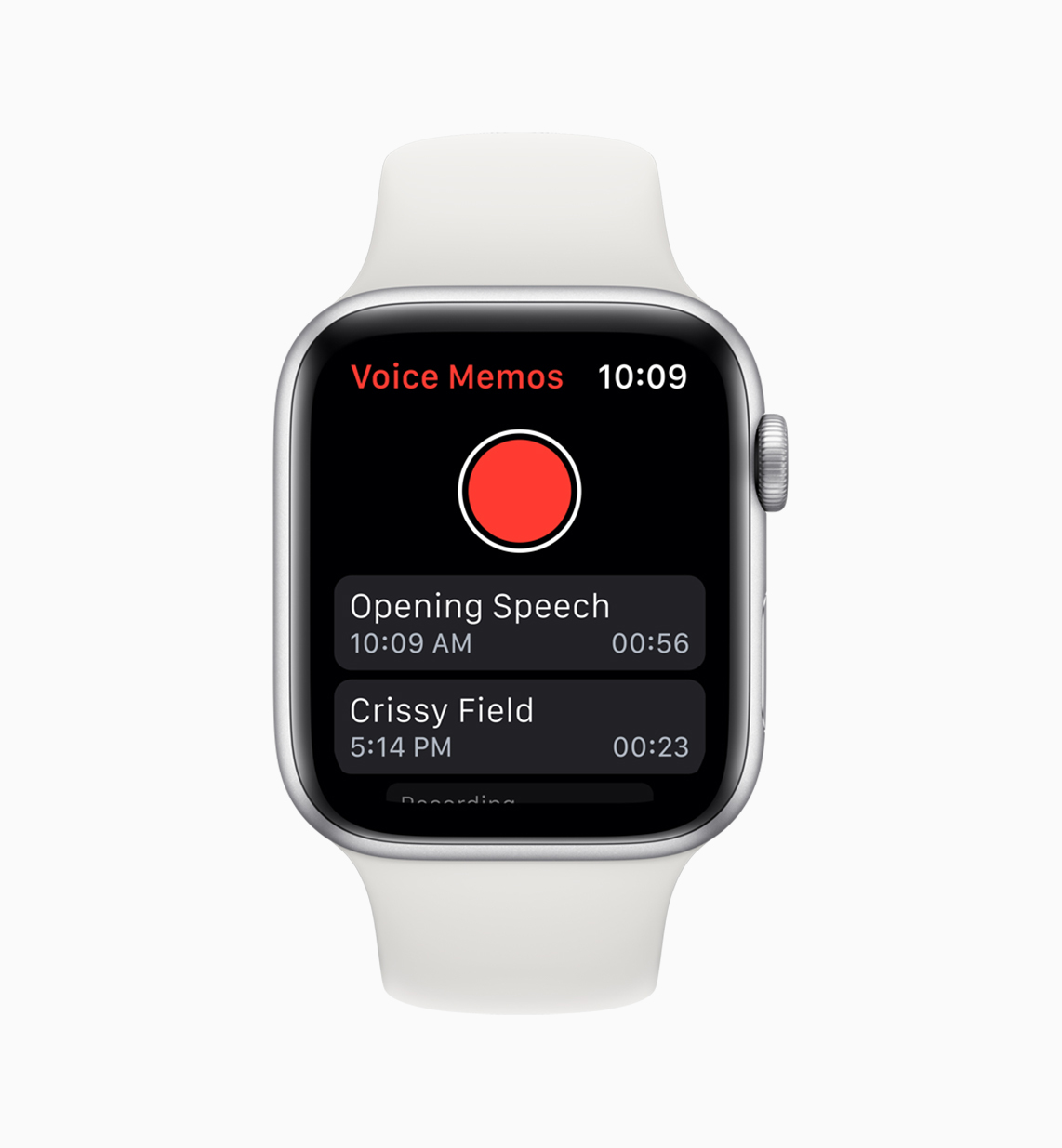 watchOS 6 introduces popular apps like Voice Memos