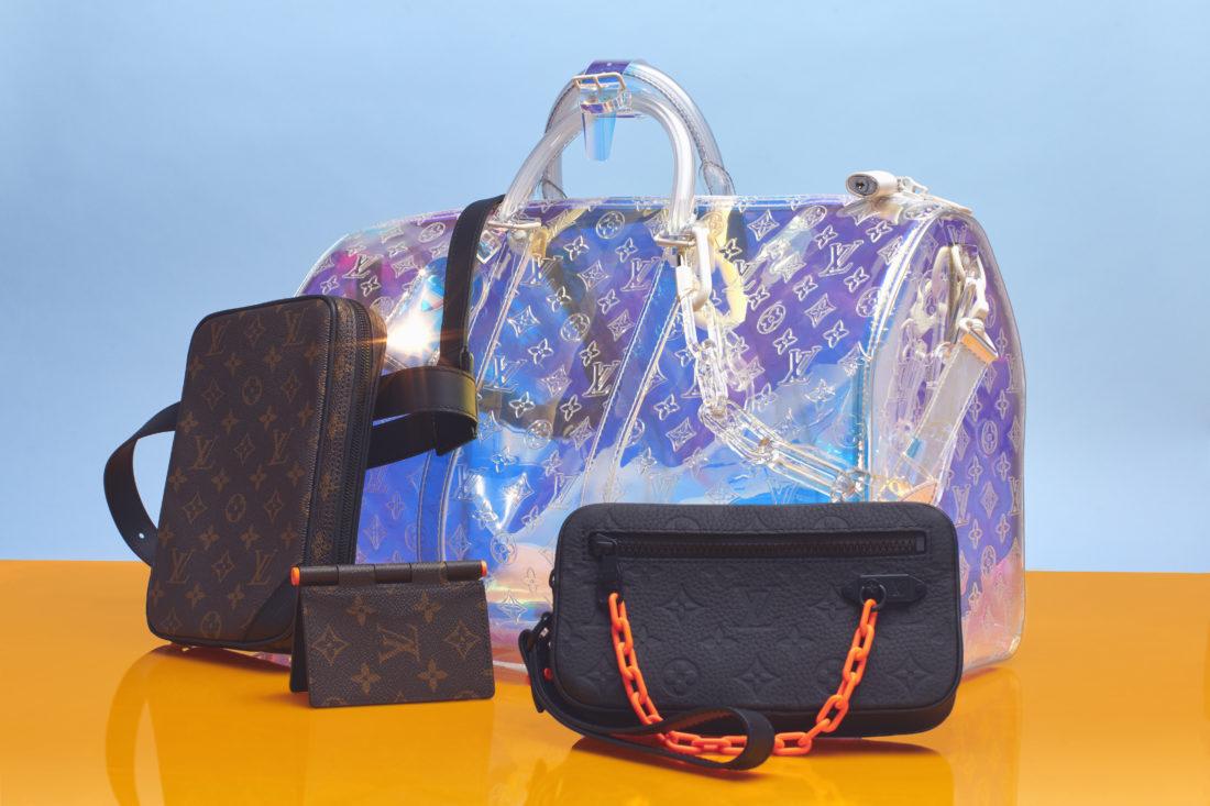 Louis Vuitton Men's SS19 (Keepall Prism ; Hinge Multiple Wallet ; Pouchette Volga)