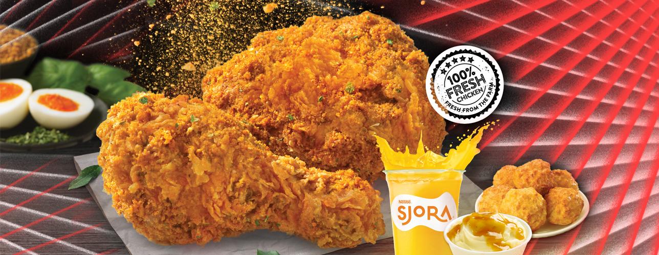 texas chicken salted egg fried chicken