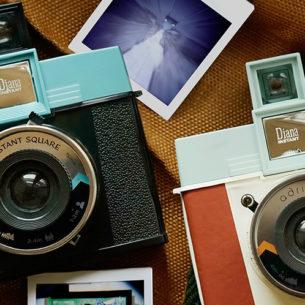 Lomogrophy's Latest Diana Instant Square Camera Now Has Interchangeable Lens