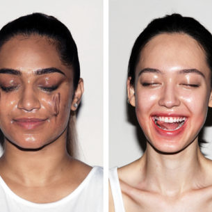 It's a Beautiful Mess Removing Makeup with Cleansing Oil